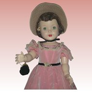 Vintage Rare Rita Paris Southern Belle Walker Doll Hard Plastic Mid Century Play Pal Doll