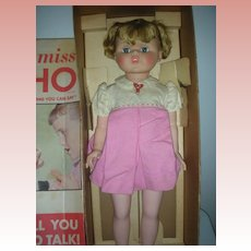 Vintage Little Miss Echo Playpal Doll In Box