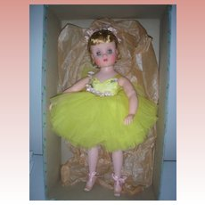 Very Rare Mint in Box Madame Alexander Elise Ballerina Wearing Canary Tutu
