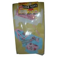 Vintage Lo-E Toys Nurser Set 1950s NRFP for Dy-Dee or Tiny Tears Dolls:Toy