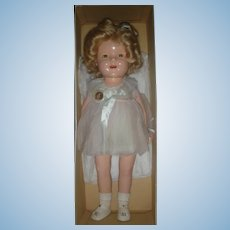 Vintage Ideal Compostition Shirley Temple Doll Mint in Box 20 Inch Baby Take a Bow Perfect Doll