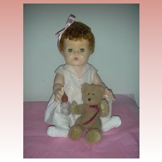 Rare Large 20 inch Vintage American Character Tiny Tears Doll with Rock a Bye Eyes