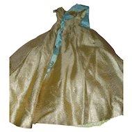 Madame Alexander Cissy Queen Doll Gold Brocade Gown 1950s