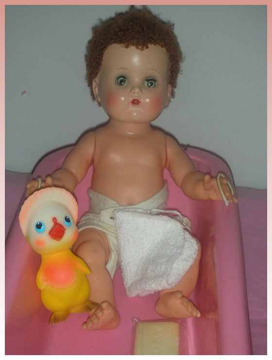 Vintage Ideal Betsy Wetsy Doll with Caracul Wig in Besty Wetsy ...