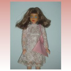 Vintage 1967 Mod Barbie Clone Doll Marked Hone Kong