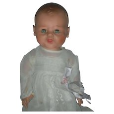 Vintage Rubber Arrow Doll Company Frowning Baby Doll 1950's