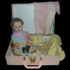 Vintage Effanbee Dy-Dee Doll with Case and Accessories Dy Dee