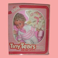 Vintage Ideal Tiny Tears Doll with Layette Set NRFB