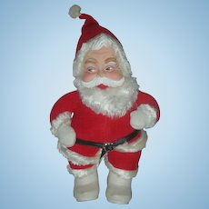 Vintage Rushton Santa Claus Mid Century Stuffed Christmas Toy Rubber Face Doll