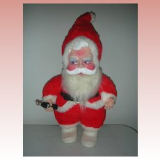 Vintage Rushton Coca Cola Toy Santa Claus Doll Excellent Condition
