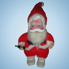 Vintage Rushton Coca Cola Toy Santa Claus Doll Excellent Condition