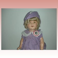 Vintage Ideal 1930's Composition Shirley Temple Doll Compo Doll 18 inch doll