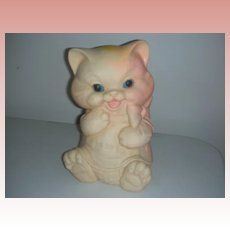 Vintage Late 1950's Ashland Rubber Squeak toy Chubby Kitten