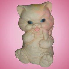 Vintage Late 1950's Ashland Rubber Squeak toy Chubby Kitten