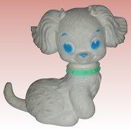 Vintage J. L. Prescott Rubber Squeak Toy Puppy Circa 1960's