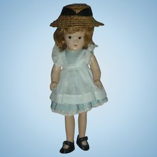 Vintage Composition Madame Alexander Little Betty McGuffey Ana Doll Compo 9 inch