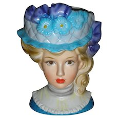 Rare Large Vintage Inarco Lady Head Vase Planter Headvase Mid Century