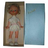 Vintage Mod 1960's Laflex French Pitchoun 16 inch Doll Mint in Box