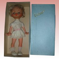 Vintage Mod 1960's Laflex French Pitchoun 16 inch Doll Mint in Box