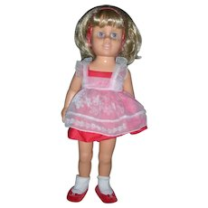 Mattel Talking Chatty Cathy Doll Blonde Hair Anniverrsary Edition All Original