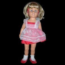 Mattel Talking Chatty Cathy Doll Blonde Hair Anniverrsary Edition All Original