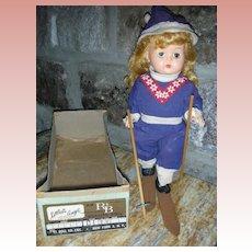 Vintage 1950's Arranbee R&B Littest Angel Walker Skier Doll in Box 10 inch