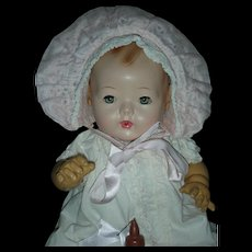Beautiful Vintage Effanbee Dy-Dee Drink and Wet Dy Dee Baby Doll