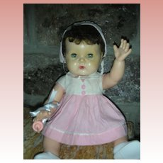 Rare American Character 1950's Black Hair Tiny Tears Doll Drink and Wet Dolls