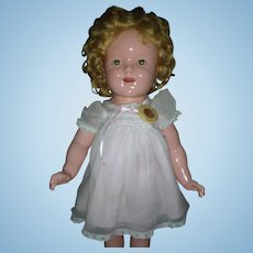 "Vintage Ideal Composition Shirley Temple Doll 18"" Compo Dolls Very Good Condition"