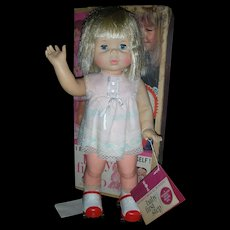 Vintage Mattel Baby First Step Doll Battery Operated in Box 1964