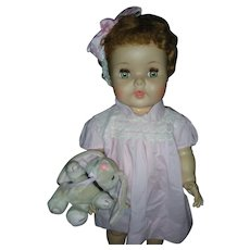 Vintage American Character Flirty Eyed Toodles Toddler Doll 23 inch Playpal Drink and Wet Doll