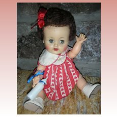 Vintage HTF Burnette Ideal 12 inch Betsy Wetsy Doll 1950's Drink and Wet Doll