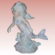 Vintage Enesco Coral Kingdom Figurine Charissa Mermaid