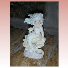 Vintage Coral Kingdom Enesco Mermaid Figurine Birthstone December Turquoise