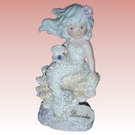 Vintage Coral Kingdom Enesco Mermaid Figurine Birthstone December Turquoise