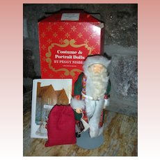 Vintage Peggy Nisbet St Nicholas in Europe Doll #B335 in box Christmas Artist Doll Handmade in England