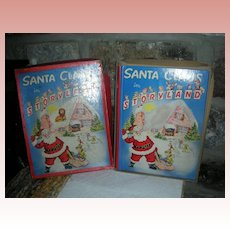 Vintage Santa Claus in Storyland Christmas Book in Original Box Circa 1950