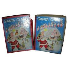 Vintage Santa Claus in Storyland Christmas Book in Original Box Circa 1950