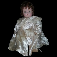 "Vintage Large 24"" Madame Alexander Baby Genius Doll All Original Tagged Clothing"