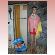 Vintage Straight Leg Ken Doll in Box with Accessories Barbie Boyfriend 1960's Original