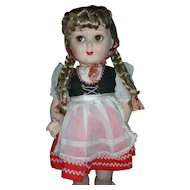 Rare Vintage Steha Doll 20 inch German Flirty Eye Hard Plastic 1950's All Original