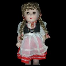 Rare Vintage Steha Doll 20 inch German Flirty Eye Hard Plastic 1950's All Original
