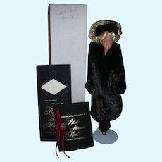 Rare Black Diamond Mink Barbie Doll Store Exclusive Real Mink