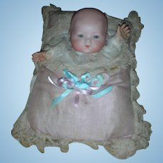Vintage AM Armand Marseilles Dream Baby Bisque Doll German Pillow Pupppet Pet