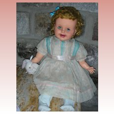 """Vintage Ideal Baby Ruth 24"""" Magic Skin Chubby Doll Open Mouth"""