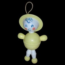 Vintage Doll Jointed Character Rattle Toy For Tiny Tears or Dy-Dee Dolls