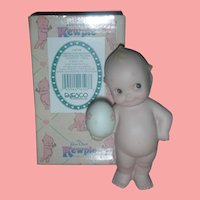 Rose O'Neill Kewpie Collection Action Figurine Doll with Hand on Side with Easter Egg