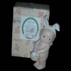 Rose O'Neill Kewpie Collection Action Figurine Doll Kewpie Standing with Egg