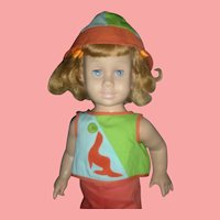 Rare Prototype Strawberry Blonde First Issue Mattel Chatty Cathy Doll in HTF Beach Outfit Complete