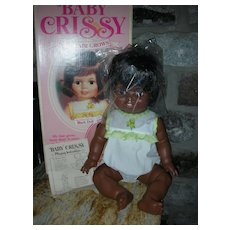 Vintage Ideal Baby Grow Hair Crissy Doll Mint in Box African American HTF